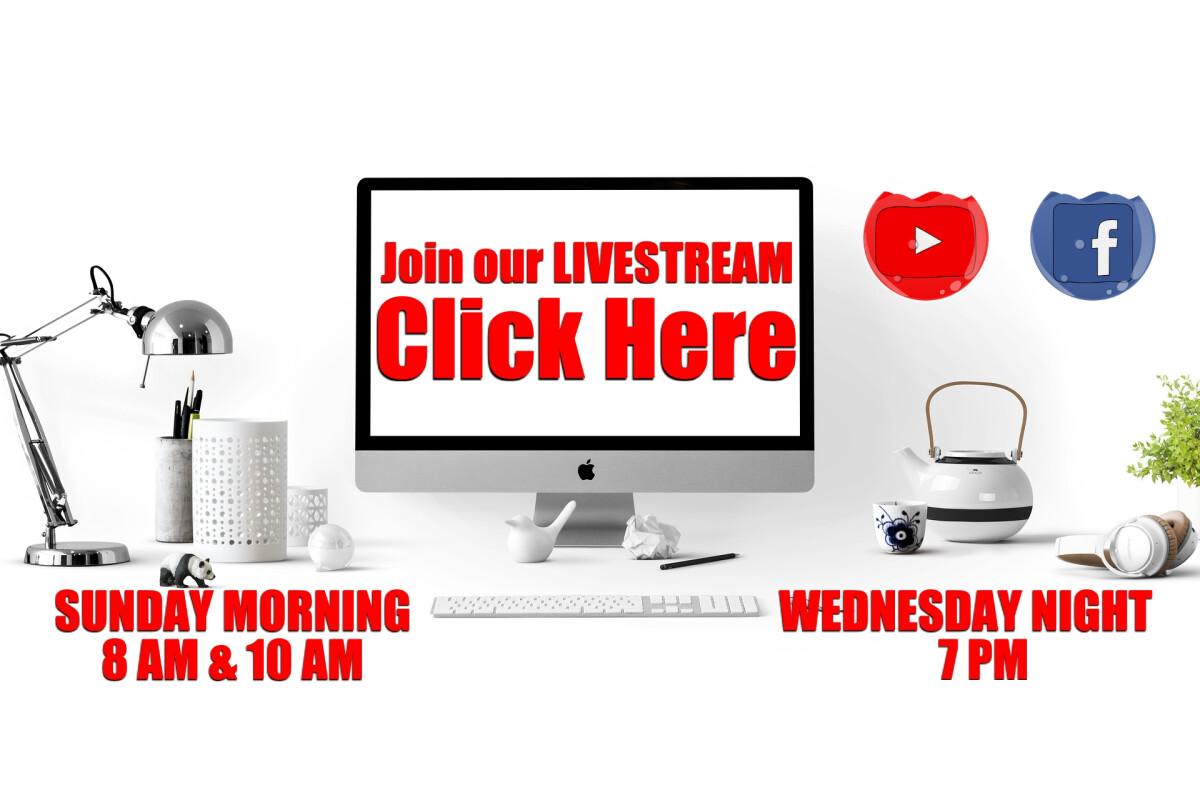 LIVE STREAMING Sunday Services 8:00am